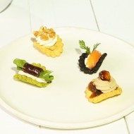 Tuile fromage blanc saumon