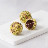 Truffé pistache framboise