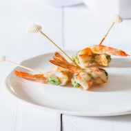 Brochette crevette crabe épicé