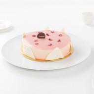 Pink cheese cake