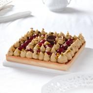 Tarte framboise pistache