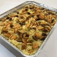 Couscous ou riz aux fruits secs accompagné d'une souris d'agneau rôtie