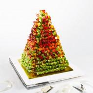 Brochette de fruits en pyramide